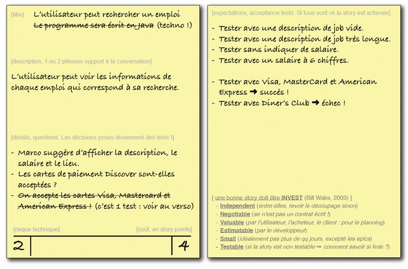 User Story : conversation, validation et planification
